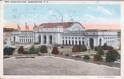 "Circa 1927 Postcard ""New Union Station, Washington, D. C."" image. Click for full size."