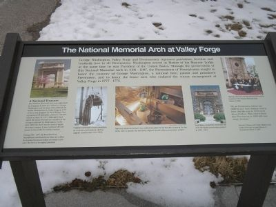 The National Arch at Valley Forge Marker image. Click for full size.