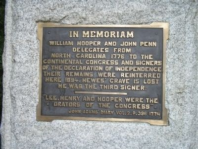 Signers Monument Plaque image. Click for full size.