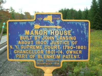Manor House Marker - North Blenheim, NY image. Click for full size.
