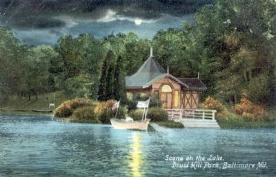 Scene on the Lake, Druid Hill Park, Baltimore, Md. image. Click for full size.
