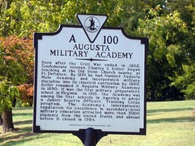 Augusta Military Academy Marker image. Click for full size.