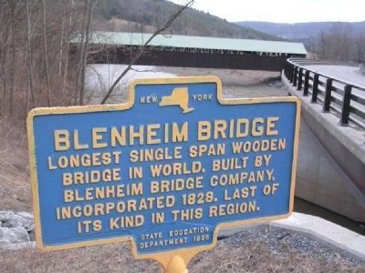 Blenheim Bridge Marker - North Blenheim, NY image. Click for full size.