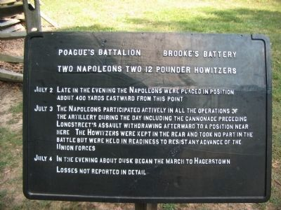 Poague's Battalion Brooke's Battery Tablet image. Click for full size.