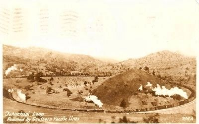 Vintage Postcard - Tehachapi Loop image. Click for full size.