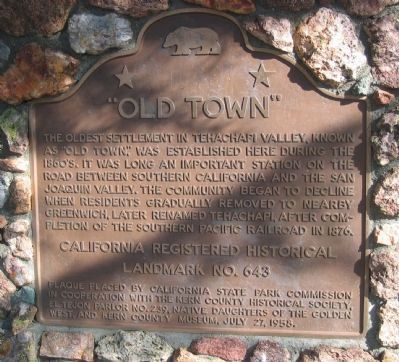 """Old Town"" Marker image. Click for full size."