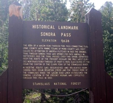 Sonora Pass Marker image. Click for full size.