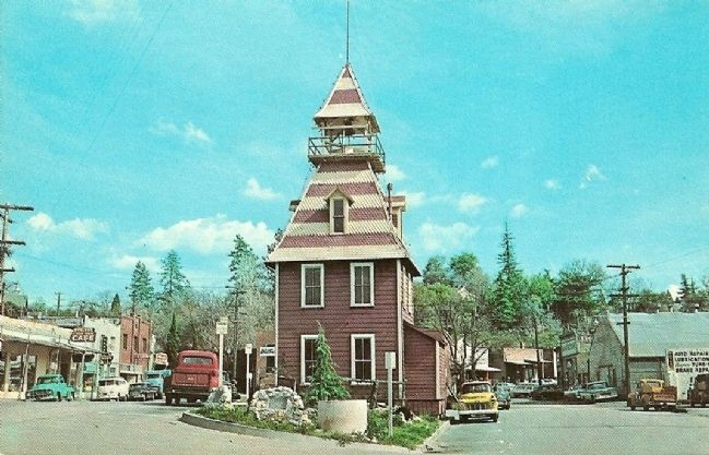 Vintage Postcard - Old Firehouse image. Click for full size.