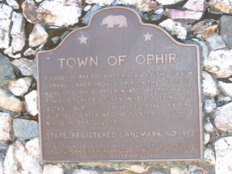 Town of Ophir Marker image. Click for full size.