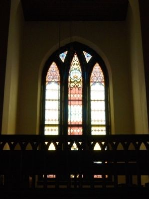 Interior of Stained Glass Window in Gallery image. Click for full size.
