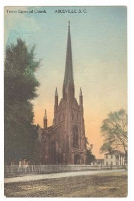 Trinity Episcopal Church Postcard<br>Sold by the McMurray Drug Company image. Click for full size.