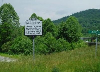"""Cataloochee Trail"" Marker image. Click for full size."