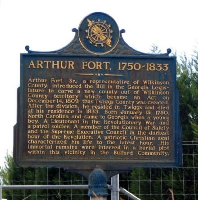 Arthur Fort, 1750-1833 Marker image, Touch for more information