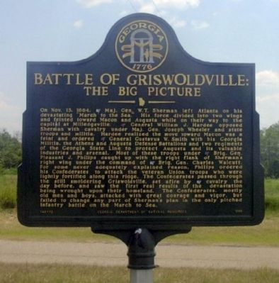 Battle of Griswoldville: Marker image. Click for full size.