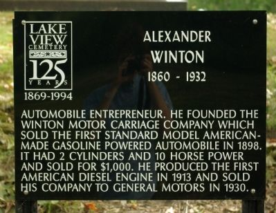 Alexander Winton Marker image. Click for full size.