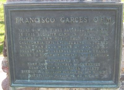 Francisco Garces O.F.M Marker image. Click for full size.
