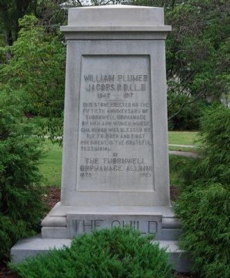 William Plumer Jacobs, D.D., LL.D. Marker image. Click for full size.