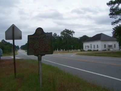 Sherman's Right Wing Marker, at Black Creek Church Road image. Click for full size.