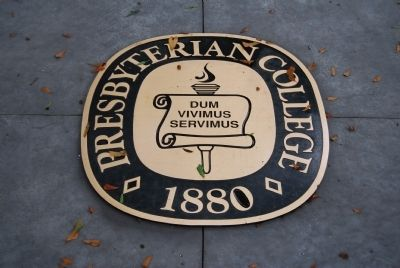 Presbyterian College Seal Located on Alumni Green image. Click for full size.