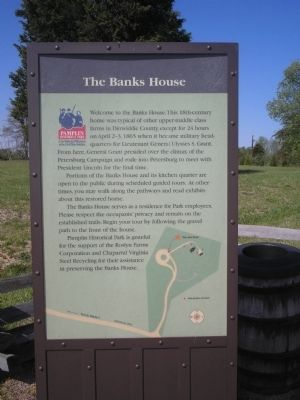 The Banks House Marker image. Click for full size.