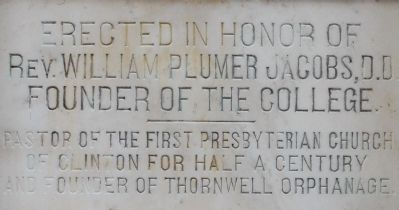 Jacobs Hall Marker image. Click for full size.