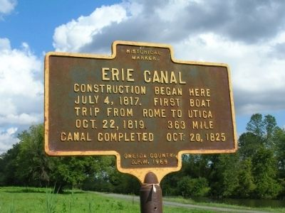 Erie Canal Marker - Rome, New York image. Click for full size.