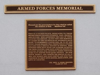 Armed Forces Memorial Marker image. Click for full size.