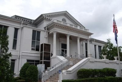 Laurens County Court House -<br>North (Rear) Entrance image. Click for full size.