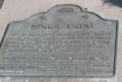 Serra Palm Marker image. Click for full size.