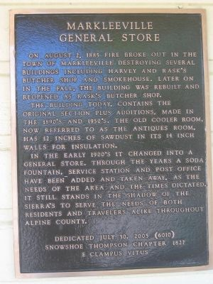 Markleeville General Store Marker image. Click for full size.