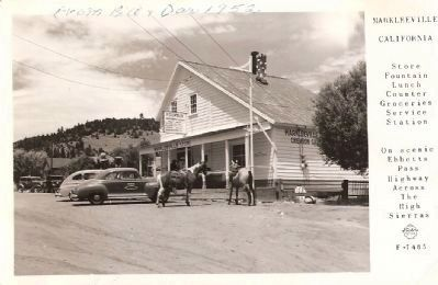 Postcard - Markleeville General Store - 1950's image. Click for full size.