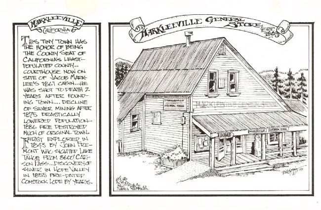 Markleeville General Store image. Click for full size.