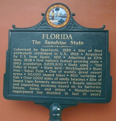 Florida Marker After Refurbishing image. Click for full size.