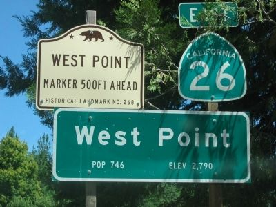 West Point State Historical Landmark Sign image. Click for full size.