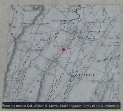 Catlett's Gap Marker Map image. Click for full size.
