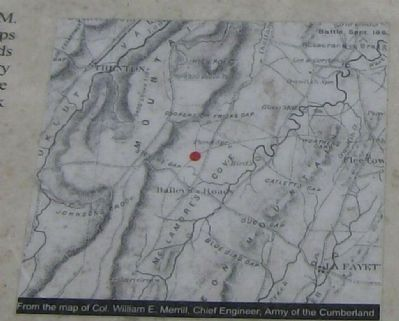 Gowan's (Gower's) Ford And Widow Glenn's Grave Marker Map image. Click for full size.