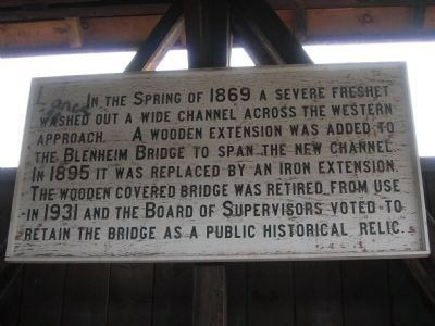 Sign Inside the Old Blenheim Bridge image. Click for full size.
