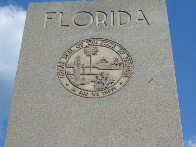Florida Seal at the Top of the Memorial image. Click for full size.
