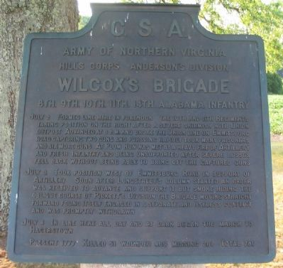 Wilcox's Brigade Tablet image. Click for full size.