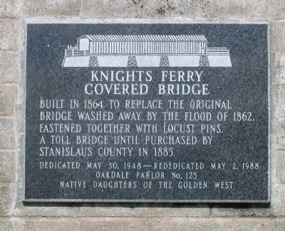 Knights Ferry Covered Bridge Marker image. Click for full size.