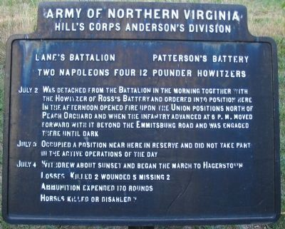 Lane's Battalion - Patterson's Battery Tablet image. Click for full size.