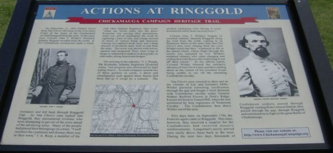 Actions At Ringgold Marker image. Click for full size.