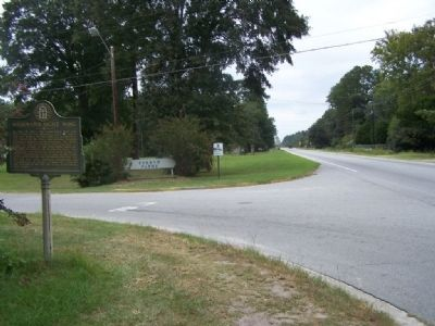 at Fox Bow Drive, Sherman's Right Wing Marker, looking west along US 80 image. Click for full size.