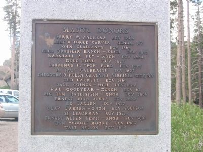 Major Donor Plaque Mounted on West Side of Monument image. Click for full size.