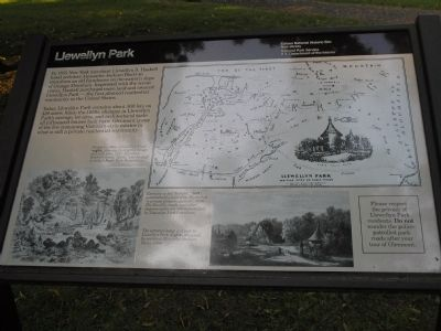 Llewellyn Park Marker image. Click for full size.