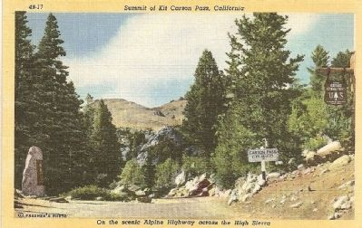 Summit of Kit Carson Pass, California image. Click for full size.