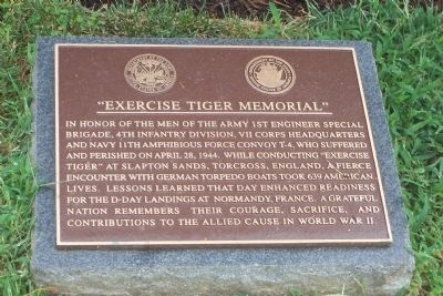 Exercise Tiger Memorial Marker image. Click for full size.