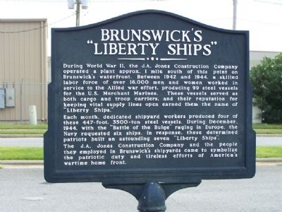 "Brunswick's ""Liberty Ships"" Marker image. Click for full size."