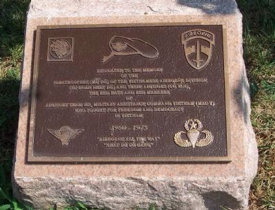 The Vietnamese Airborne Division Marker image. Click for full size.