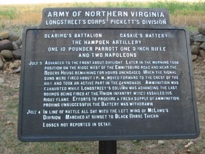 Dearing's Battalion - Caskie's Battery Tablet image. Click for full size.